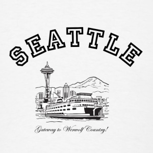 SEATTLE:  Gateway to Werewolf Country! Buttons - Men's T-Shirt