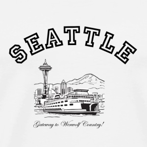 SEATTLE:  Gateway to Werewolf Country! Buttons - Men's Premium T-Shirt