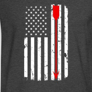 USA Flag with Red Arrow T-Shirts - Men's Long Sleeve T-Shirt
