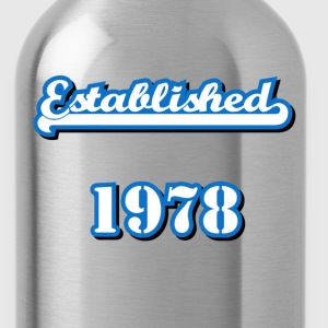 Established 1978 T-Shirts - Water Bottle