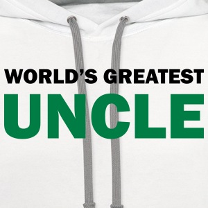 World's greatest uncle - Contrast Hoodie