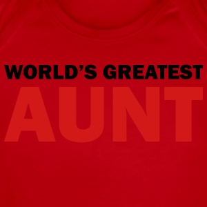 World's greatest aunt - Short Sleeve Baby Bodysuit