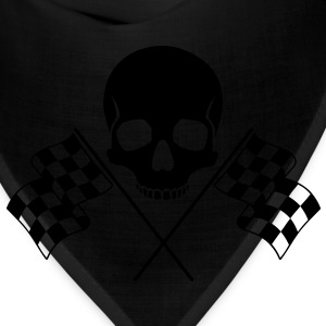 Skull Checkered Flags T-Shirts - Bandana