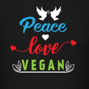 Peace Love Vegan Sportswear - Men's T-Shirt