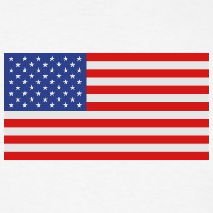 USA - American flag with correct dimensions - Men's T-Shirt