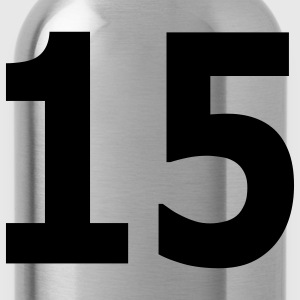 Team letter fifteen 15 - Water Bottle