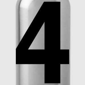 Team letter four 4 - Water Bottle