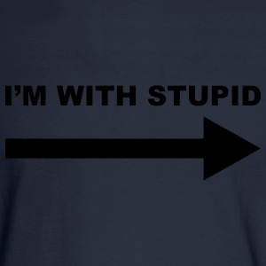 I'm with stupid - Men's Long Sleeve T-Shirt