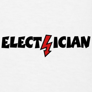 Electrician with a Lightning (Vector) Sportswear - Men's T-Shirt