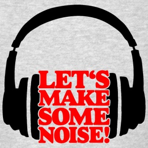LET'S MAKE SOME NOISE Headphone (Red) Sportswear - Men's T-Shirt