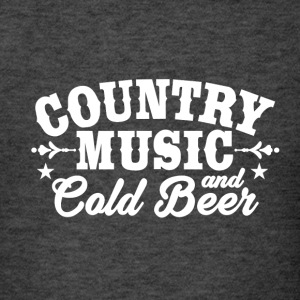 Country Music and Cold Beer - Men's T-Shirt