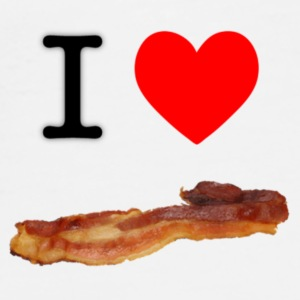 I Heart Bacon Buttons - Men's Premium T-Shirt