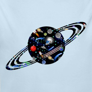 Galaxy Universe Planet - Long Sleeve Baby Bodysuit