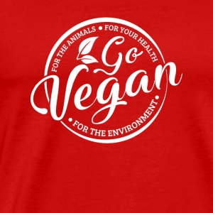 Go Vegan white Spreadshir Sportswear - Men's Premium T-Shirt