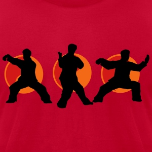 Tai Chi Poses Hoodies - Men's T-Shirt by American Apparel