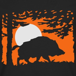 wildboar_in_the_night T-Shirts - Men's Premium Long Sleeve T-Shirt