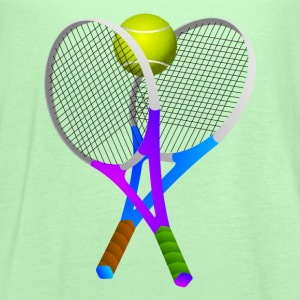 Tennis Ball and Rackets - Women's Flowy Tank Top by Bella