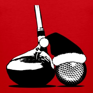 Christmas Golf Ball and Club Xmas - Men's Premium Tank