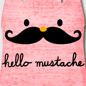 Hello mustache Women's T-Shirts - Women's Flowy Tank Top by Bella