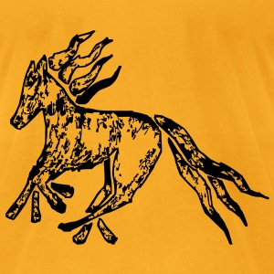Tribal Horse Picture Bags  - Men's T-Shirt by American Apparel