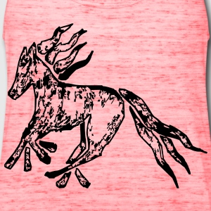 Tribal Horse Picture Bags  - Women's Flowy Tank Top by Bella