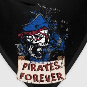 pirate_skull_pirates_forever_062017_a T-Shirts - Bandana