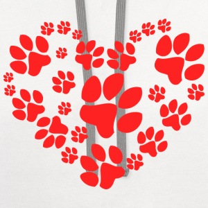 Paws Heart - Contrast Hoodie