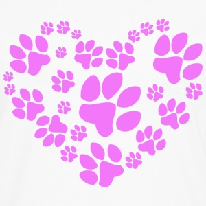 Paws Heart - Men's Premium Long Sleeve T-Shirt