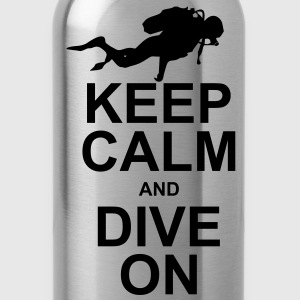 Keep Calm and Dive On (KCDO) T-Shirts - Water Bottle