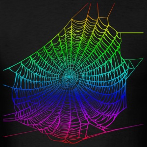 Rainbow web Hoodies - Men's T-Shirt