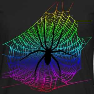 Spider Rainbow Web Hoodies - Men's Premium Long Sleeve T-Shirt