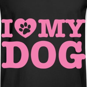 I Love My Dog - Men's Long Sleeve T-Shirt