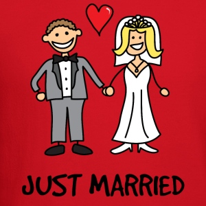 Just Married Newlyweds Cartoon T-Shirts - Crewneck Sweatshirt
