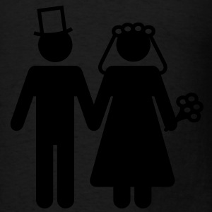 Bride and Groom - Add Your Own Text Bags  - Men's T-Shirt
