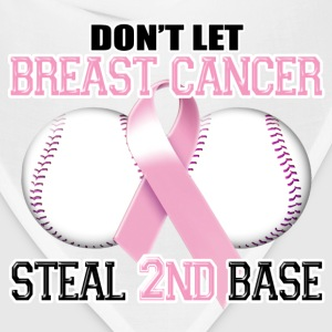 Don't Let Breast Cancer Steal 2nd Base T-Shirts - Bandana