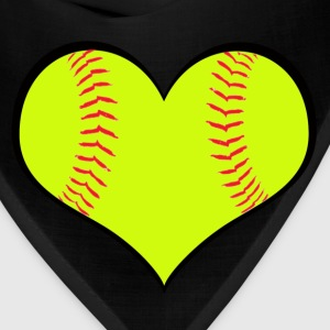 Men's Softball Heart T-Shirt - Bandana