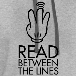 Read between the lines - Contrast Hoodie
