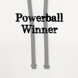 Powerball winner lotto jackpot - Contrast Hoodie