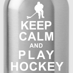 KEEP CALM and PLAY HOCKEY - Water Bottle