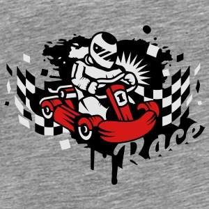 A kart racer graffiti Sweatshirts - Men's Premium T-Shirt