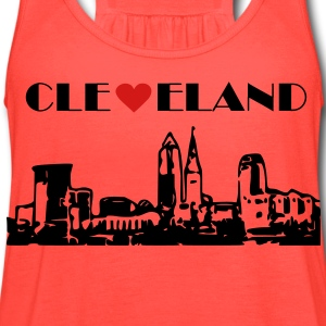 Cleveland Skyline T-Shirts - Women's Flowy Tank Top by Bella