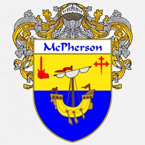 McPherson Coat of Arms/Family Crest - Men's Premium T-Shirt