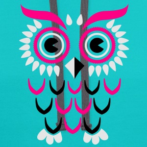 Owl T-Shirts - Contrast Hoodie