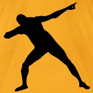 Usain Bolt Silhouette - Men's T-Shirt by American Apparel