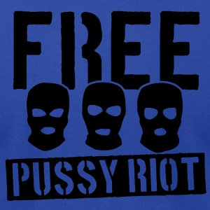 Free Pussy Riot Tanks - Men's T-Shirt by American Apparel