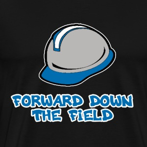 Forward Down the Field Hoodies - Men's Premium T-Shirt