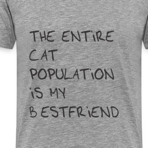 The entire cat population is my bestfriend - Men's Premium T-Shirt