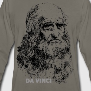 Leonardo Da Vinci, Autoportrait - Men's Premium Long Sleeve T-Shirt