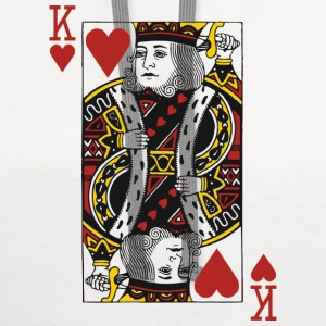 King of Hearts T-Shirts - Contrast Hoodie
