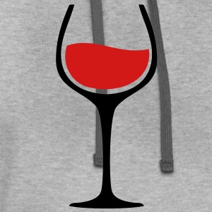 Wine Glass TWO COLOR VECTOR T-Shirts - Contrast Hoodie